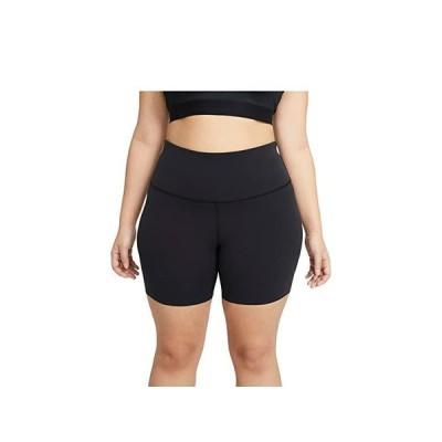 """ナイキ The Yoga Lux 7"""""""" Shorts (Sizes 1X-3X) レディース ショートパンツ ズボン 半ズボン Black/Dark Smoke Grey"""