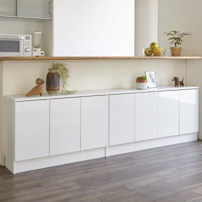 家具 収納 キッチン収納 食器棚 カウンター下収納 高さ60cm!ダイニングカウンター下収納 奥行25幅89.5cm(3枚扉) 549837
