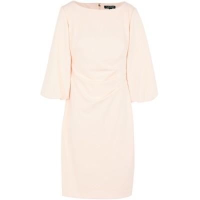 LAUREN RALPH LAUREN ミニワンピース&ドレス ライトピンク 2 ポリエステル 94% / ポリウレタン 6% ミニワンピース&ドレス