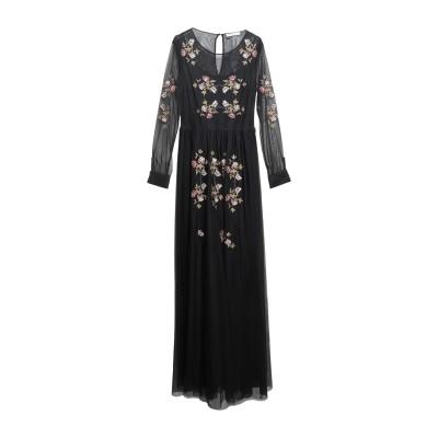 シルビアンヒーチ SILVIAN HEACH ロングワンピース&ドレス ブラック XS ポリエステル 100% ロングワンピース&ドレス