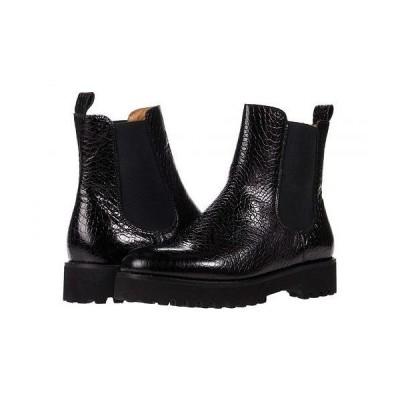 Andre Assous レディース 女性用 シューズ 靴 ブーツ チェルシーブーツ アンクル Peggy - Black Croc