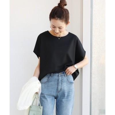 tシャツ Tシャツ きれいめポンチ半袖オーバーサイズドルマントップス Tシャツ
