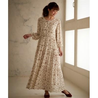 【大きいサイズ】 フラワープリントティアードロングワンピース ワンピース, plus size dress