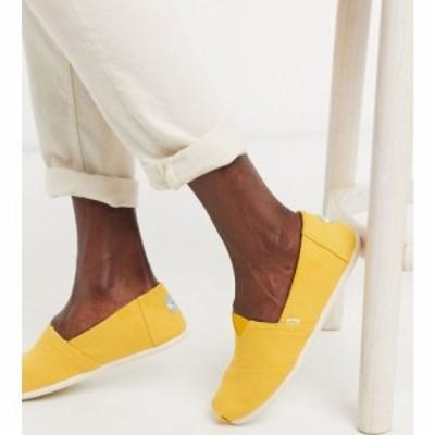 トムス Toms メンズ エスパドリーユ シューズ・靴 alpargata espadrille in yellow イエロー