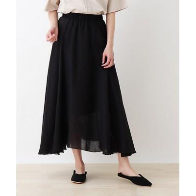 <SHOO LA RUE(Women)/シューラルー> カラースカート クロ019【三越伊勢丹/公式】