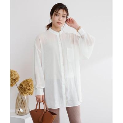 【ユアーズ】 ワッシャーパイピングシャツ レディース オフホワイト M ur's