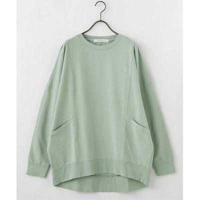tシャツ Tシャツ ピグメント裏毛切替ポケ付きプルオーバー