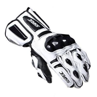 ALI-SP バイク グローブ 本革手袋 通気 防風 バイク用品 防水 7107 白(M)