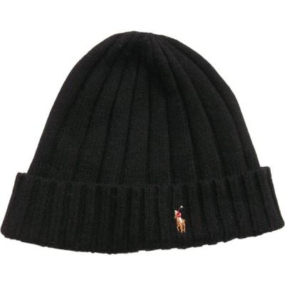 ポロ ラルフローレン ニットキャップ ワンポイント ニット帽 ブラック 黒 メンズ Polo Ralph Lauren 263