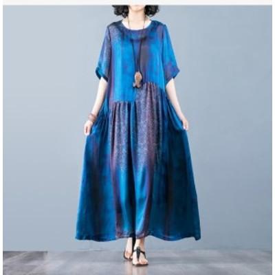 40代のファッションレディース ワンピース ロングミセス ロングワンピース ゆったりサイズ お呼ばれドレス きれいめ ワンピ ロング丈 半