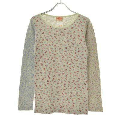 CUBE SUGAR / キューブ シュガー クレイジーパターン花柄 長袖カットソー