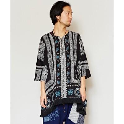 トップス 【チャイハネ】yul エスニックプリントMEN'Sビッグシルエットトップス
