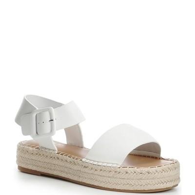 ジアーニビニ レディース サンダル シューズ Kaygan Leather Espadrille Flatform Sandals White