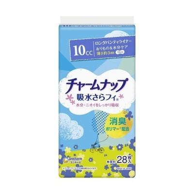【お一人様1個限り特価】チャームナップ 吸水さらフィ 10cc 無香料 28枚 パンティライナー ロング 19cm (軽い尿モレの方)