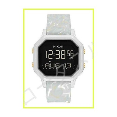 NIXON Women's Stainless Steel Watch with Silicone Strap, White, 18 (Model: A1211-3413-00) 並行輸入品