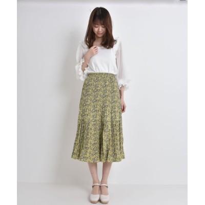 MAJESTIC LEGON / フラワーランダムプリーツスカート WOMEN スカート > スカート