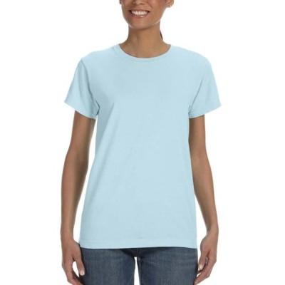 レディース 衣類 トップス Comfort Colors Women's Ringspun Garment-Dyed T-Shirt Chambray Small Tシャツ
