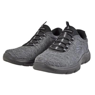 メンズ 靴 スニーカー スケッチャーズ 軽量 スリッポン ブラック SKECHERS52813BBK