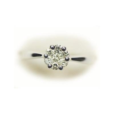 ダイヤモンド  リング 指輪 K18 フラワー7石 5449