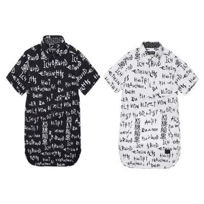 ZEPHYREN LONG SHIRT S/S WHITE / pagan ゼファレン ロングシャツ チェック 半袖