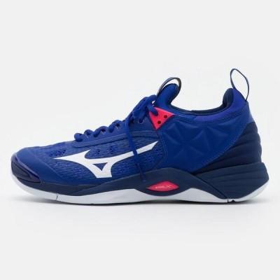ミズノ メンズ スポーツ用品 WAVE MOMENTUM - Volleyball shoes - reflex blue/white/diva pink