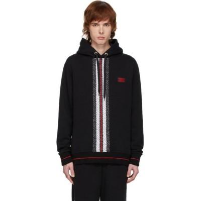 バーバリー Burberry メンズ パーカー トップス black larell monogram hoodie Black