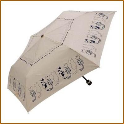 (送料無料)折りたたみ傘 50cm mini neco FS-23U オフホワイト ▼旅行や通勤のお供にぴったり