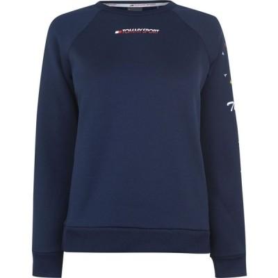 トミーヒルフィガー Tommy Sport レディース スウェット・トレーナー トップス graphic crew sweatshirt Sport NavyA