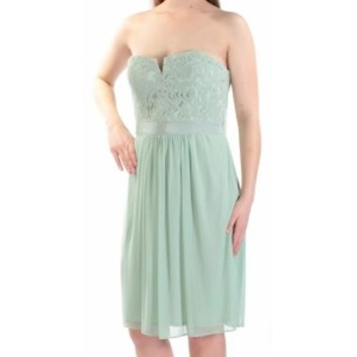Adrianna Papell アドリアーナ パペル ファッション ドレス Adrianna Papell NEW Green Womens Size 2 Lace Strapless Sheath Dress