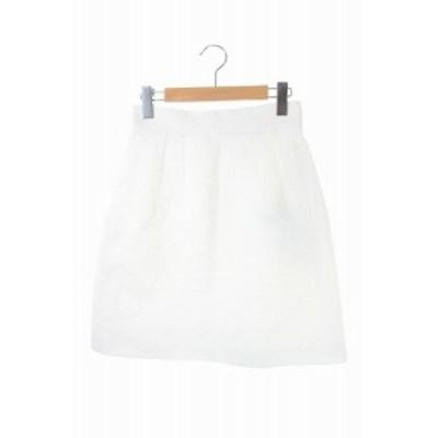 【中古】ドルチェ&ガッバーナ ドルガバ DOLCE&GABBANA フラワーエンボスタイトスカート 38 白 /YS ■OS レディース