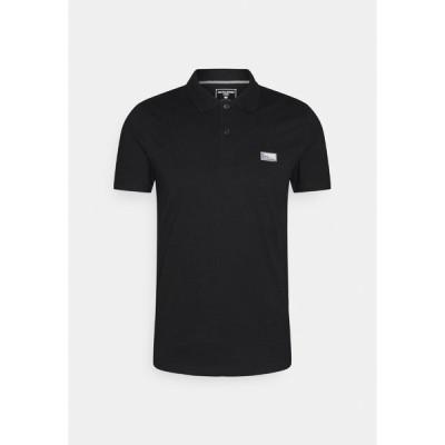 ジャック アンド ジョーンズ ポロシャツ メンズ トップス JCOSCHULTZ TURK - Polo shirt - black