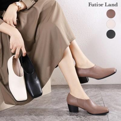 ブーティー サイドゴア シューズ スクエアトゥ 靴 韓国 ファッション インサイドゴアスクエアトゥブーティー