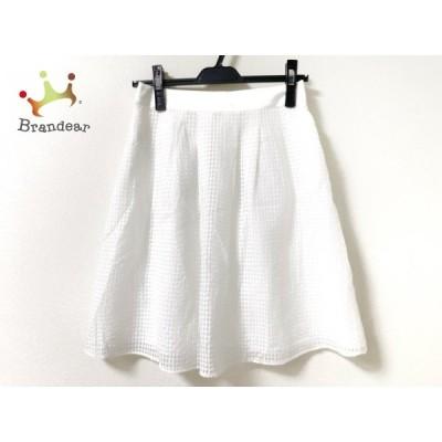 ニジュウサンク 23区 スカート サイズ34 S レディース 白 チェック柄   スペシャル特価 20201221