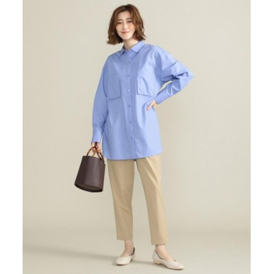 (SHARE PARK/シェアパーク)オーバーサイズシャツ/レディース サックスブルー系