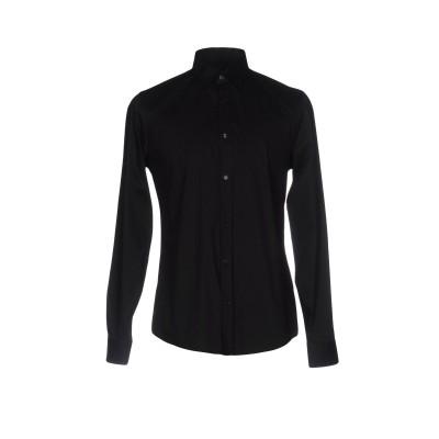 トラサルディ ジーンズ TRUSSARDI JEANS シャツ ブラック 41 コットン 72% / ナイロン 25% / ポリウレタン 3% シャツ