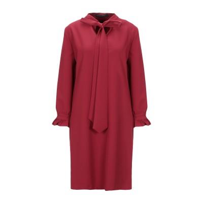メッサジェリエ MESSAGERIE ミニワンピース&ドレス レンガ 40 レーヨン 97% / ポリウレタン 3% ミニワンピース&ドレス