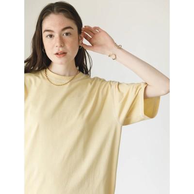 配色ステッチ半袖Tシャツ