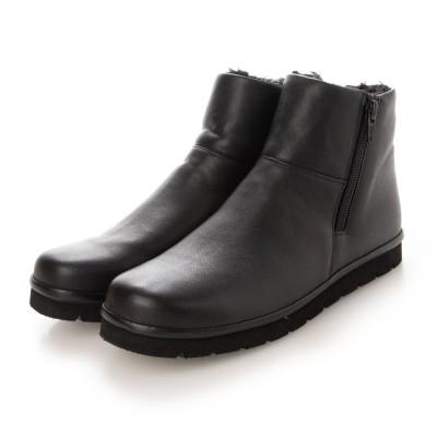 エレモーサ HEREMOSA ソフト牛革 ブーツ (ブラック)