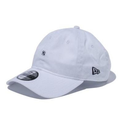 ニューエラ NEW ERA 9TWENTY ニューヨーク・ヤンキース マイクロロゴ ホワイト × ブラック 56.8 - 60.6cm キャップ 帽子 日本正規品