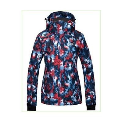 Wantdo レディース 防水スキージャケット カラフルプリント レインコート 冬用パーカー US サイズ: Medium「