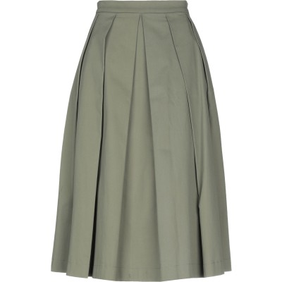 ANNARITA N TWENTY 4H 7分丈スカート ミリタリーグリーン 42 コットン 97% / ポリウレタン 3% 7分丈スカート