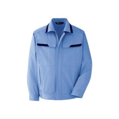 ミドリ安全 春夏ベルデクセル綿100%ブルゾンライトブルーS VES 2392-UE-S 0