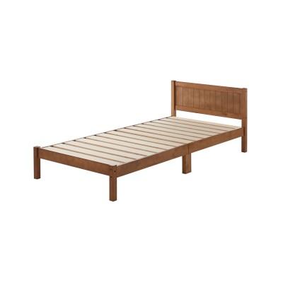 敷布団も使えるシンプルすのこベッド<シングル>