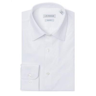 ハガール シャツ トップス メンズ JM Premium Performance Slim Fit Dress Shirt White
