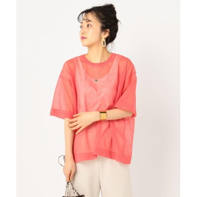 【ノーリーズ】 アロンジェシアーニットTシャツ レディース ピンク F NOLLEY'S