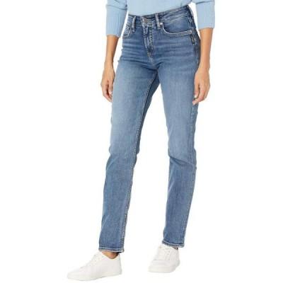 シルバー ジーンズ レディース デニムパンツ ボトムス Avery High-Rise Curvy Fit Straight Leg Jeans L94443EPX226