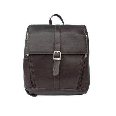 Piel Leather Slim Computer Backpack, Chocolate, One Size 並行輸入品