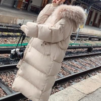 冬物 レディース コート ダウンコート ファー カジュアル 防寒 ロング 小顔効果 通勤 女子会  デート  hf01079