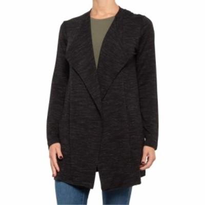 タハリ Tahari レディース カーディガン トップス Space-Dyed Wide Collar Cardigan Sweater Black Space Dye