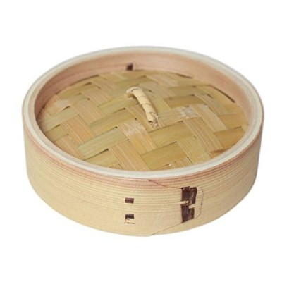 竹の精 中華セイロ 直径15cm 蓋 萬洋 19003A